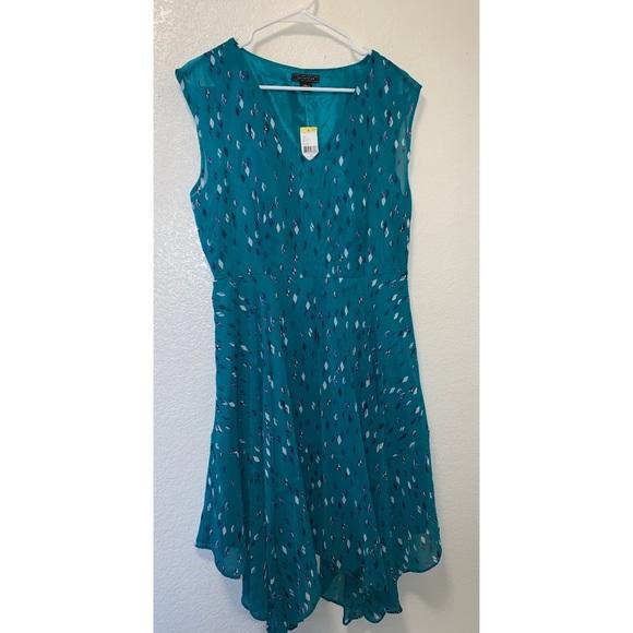 Metaphor Dresses & Skirts - Metaphor Blue Printed High-Low Dress
